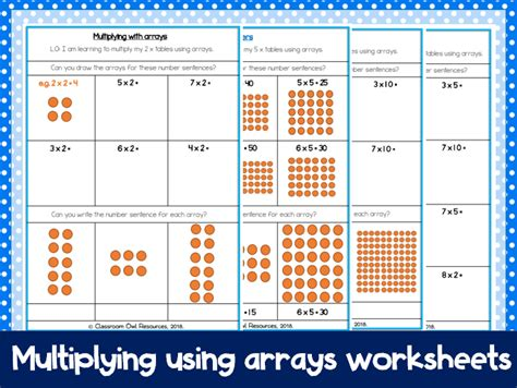 year 2 maths multiplying with arrays differentiated