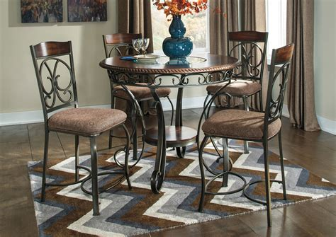 k r furniture glambrey counter height table w 4