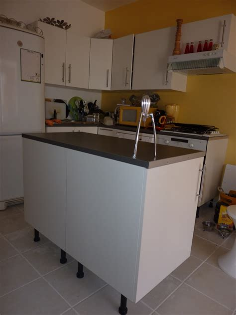 montage cuisine ixina meuble ilot central pas cher cuisine en image