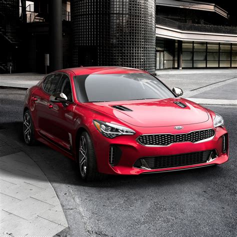 2018 Kia Stinger Red Color Front Hd Wallpaper