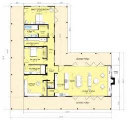 casa tipo l de dos dormitorios planos gratis