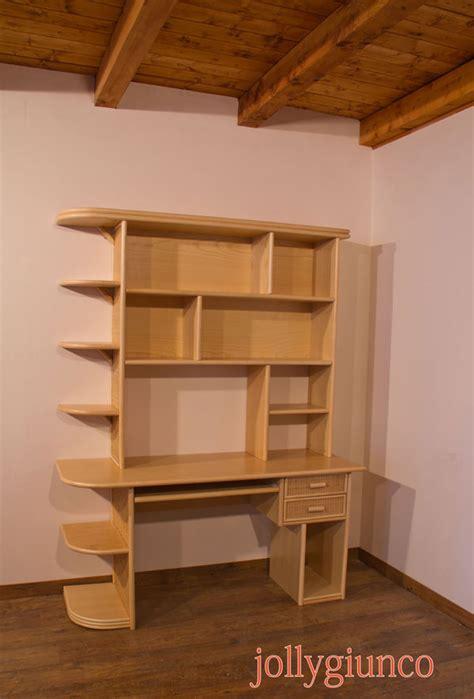Libreria Scrivania scrivania con libreria in rattan
