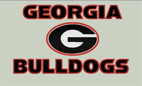 Georgia Bulldogs Embroidery Design Bulldog File Sport Team