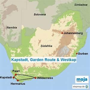 Kapstadt garden route westkap s von moja landkarte for Katzennetz balkon mit kapstadt und garden route