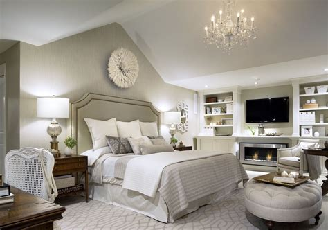 Light Grey And White Paint In Bedroom-home Combo