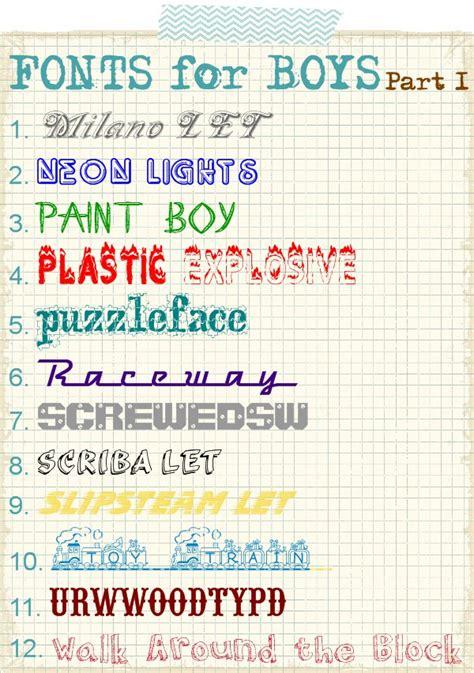 fonts  boys part   scrap shoppe
