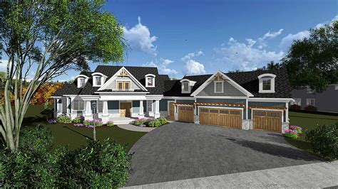 luxury craftsman house plan ah architectural designs house plans