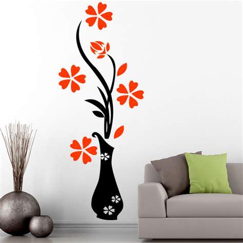 pvc vinyl floral wall sticker rs  square feet walls