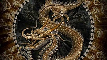 Dragon Chinese Wallpapers Japanese Dragons Gold Background