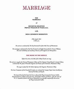 Sample wedding program template 11 documents in pdf for Sample wedding programs templates