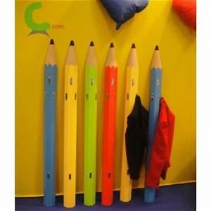 Porte Manteau Mural Enfant : porte manteau enfant mural forme crayon en bois ~ Teatrodelosmanantiales.com Idées de Décoration