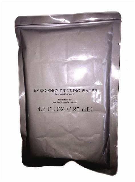 military surplus emergency drinking water mre  pouches
