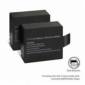 Batterie Ladezeit Berechnen : apeman action kamera akku1050mah wiederaufladbar 2 st cke mit usb dual battery charger 2 ~ Themetempest.com Abrechnung