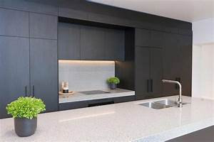 Interior of modern european kitchen startling matte black for Best brand of paint for kitchen cabinets with wall art squares
