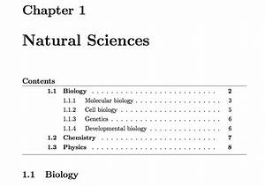 apa style latex template - rules table of contents horizontal lines tex latex
