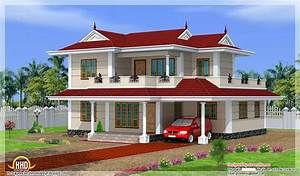 Model Double Storey House Design Green Homes Thiruvalla