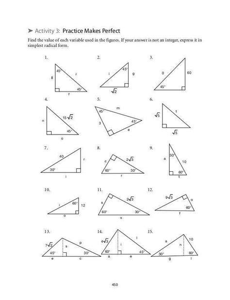 Special Triangles Worksheet Homeschooldressagecom