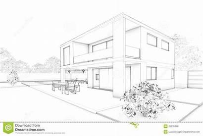 Sketch Villa Garden Terrace Terrasse Croquis Garten