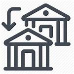 Transfer Bank Banks Icon Money Institutions Competition