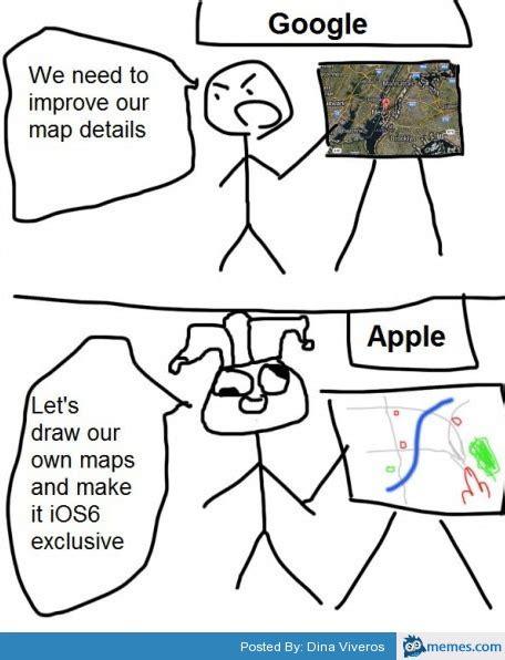 Apple Maps Meme - google maps vs apple maps memes com