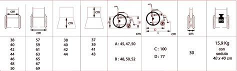 Dimensione Sedia A Rotelle by Offcarr Sedia A Rotelle Pieghevole Leggera Con Struttura