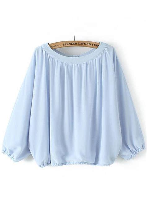 light blue blouse for women pale blue chiffon blouse fashion ql