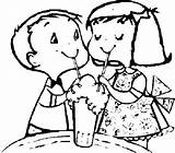Coloring Sharing Ice Cream Soda Friends sketch template