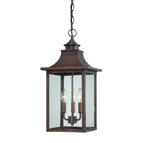 copper exterior light fixtures acclaim lighting st charles collection hanging outdoor 3