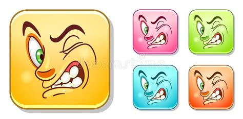 Dislike Emoticons Collection Stock Vector