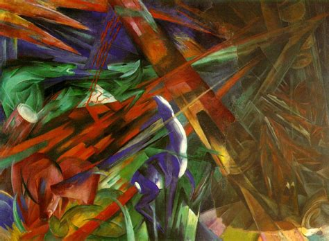large cat tree fate of the animals by franz marc