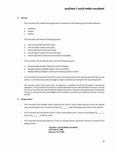 social media consulting services contract With political campaign manager contract template