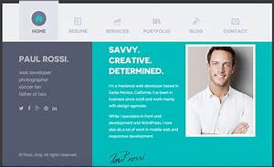 30 best resume cv html templates for personal business With cv website template