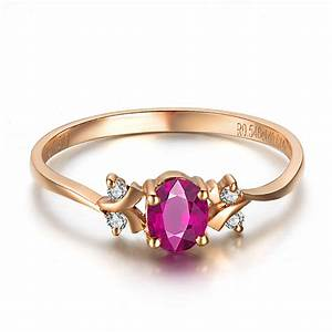 ruby and diamond engagement ring on 9ct rose gold jeenjewels With gold wedding rings with ruby