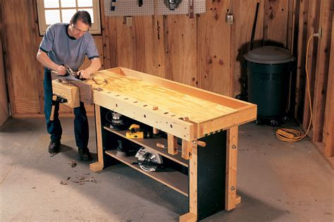 Woodworking Bench by Tom S Torsion Box Workbench Popular Woodworking Magazine