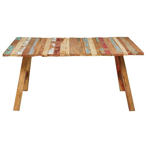 table en bois recycl 233 color 233 l 180cm coachella maisons du monde