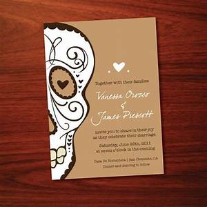 printable skull wedding invitation see shop With free printable skull wedding invitations
