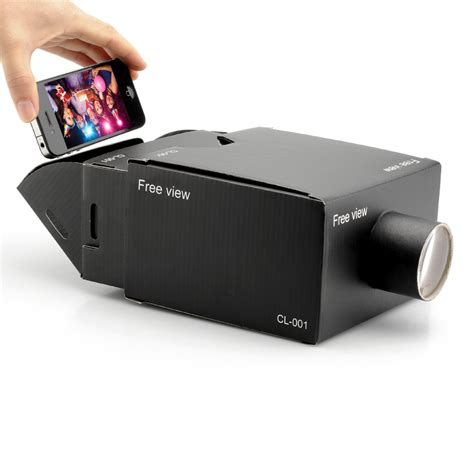 diy iphone projector portable cardboard mobile phone projector 2126