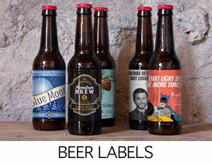 wine labels beer labels custom bottled water bottle With beer with your own label
