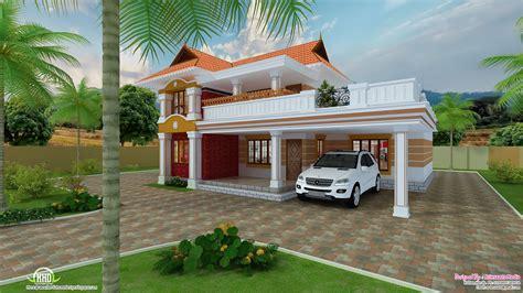 villa house plans 2700 sq beautiful villa design kerala home