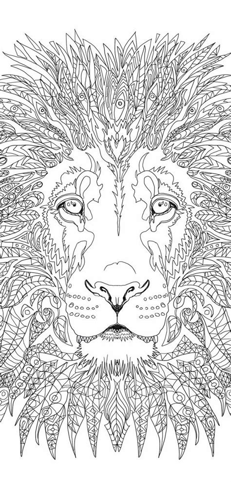 Lion Coloring pages Printable Adult Coloring book Lion