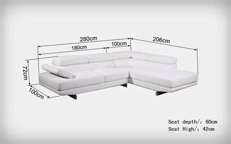 canapé dimension canape d angle cuir salon foggia canape d 39 angle en