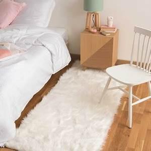 Tapis Blanc Fausse Fourrure : tapis tapis de salon en coton tress ou en lin maisons du monde ~ Teatrodelosmanantiales.com Idées de Décoration