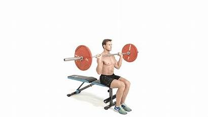 Press Military Seated Barbell Exercises Shoulder Gym