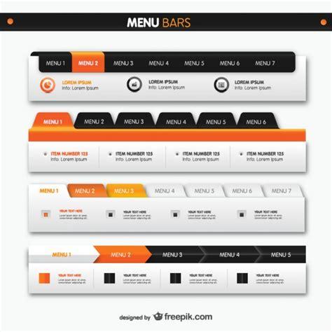 menu bars web elements vector