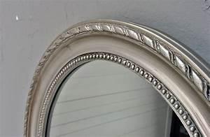 Spiegel Antik Oval : spiegel silber antik oval 47x37cm holz wandspiegel barock badspiegel flurspiegel ~ Markanthonyermac.com Haus und Dekorationen