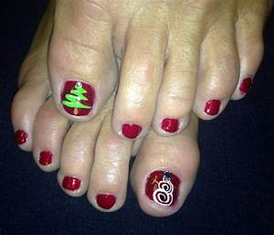 Christmas toe nails my style colors plays