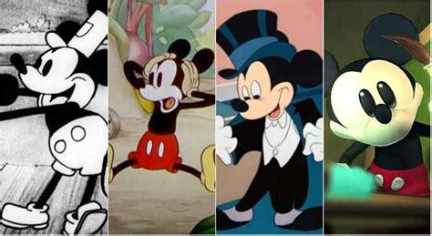 anos de mickey mouse confira  evolucao  personagem