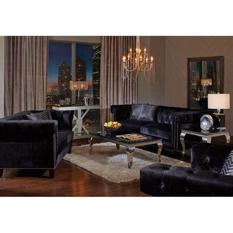 nailhead trim sofa set coaster reventlow 2 piece nailhead trim sofa set in black