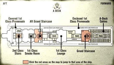 Titanic Boat Deck Map by Titanic Review And Walkthrough