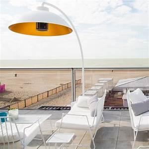 Lampadaire Exterieur Terrasse : heatsail dome arc lampadaire parasol chauffant infrarouge ~ Teatrodelosmanantiales.com Idées de Décoration